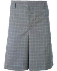 Pantaloncini a quadri grigi