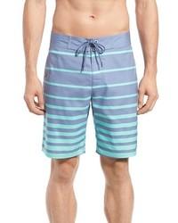 Pantaloncini a righe orizzontali azzurri
