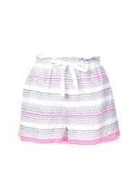 Pantaloncini a righe orizzontali bianchi di Lemlem