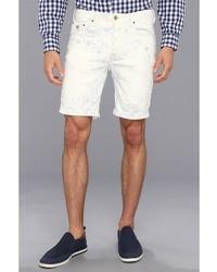 Pantaloncini a righe verticali bianchi