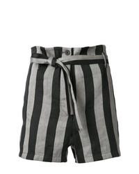 Pantaloncini a righe verticali grigi