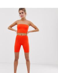 Pantaloncini ciclisti arancioni