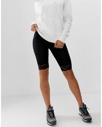 Pantaloncini ciclisti di pizzo neri di ASOS DESIGN