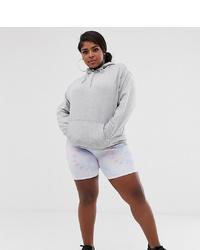 Pantaloncini ciclisti effetto tie-dye viola chiaro di New Girl Order Curve