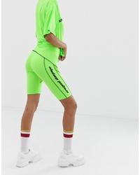Pantaloncini ciclisti lime