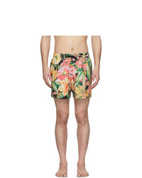 Pantaloncini da bagno a fiori multicolori di Dries Van Noten