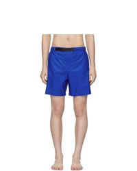 Pantaloncini da bagno blu di Prada