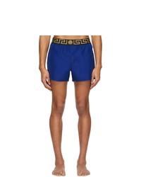 Pantaloncini da bagno blu di Versace Underwear