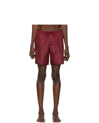 Pantaloncini da bagno bordeaux di Gucci