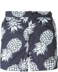 Pantaloncini da bagno stampati blu scuro di Valentino