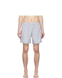 Pantaloncini da bagno stampati grigi di Amiri