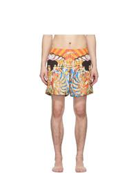 Pantaloncini da bagno stampati multicolori di Amiri