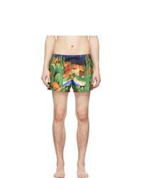 Pantaloncini da bagno stampati multicolori di Versace Underwear