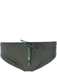 Pantaloncini da bagno verde oliva di Dolce & Gabbana