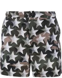 Pantaloncini da bagno verde scuro di Valentino