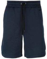 Pantaloncini di cotone blu scuro di AMI Alexandre Mattiussi