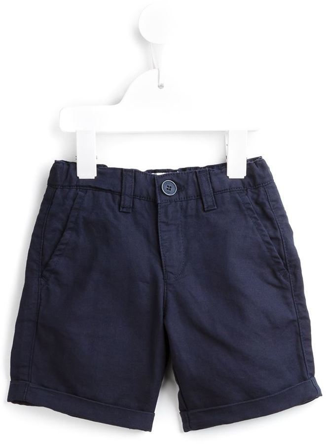 Pantaloncini di cotone blu scuro di Armani Junior