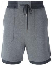 Pantaloncini di cotone grigi di Helmut Lang
