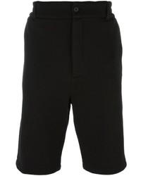 Pantaloncini di cotone neri di Helmut Lang