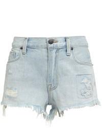 Pantaloncini di jeans azzurri