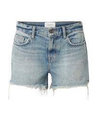 Pantaloncini di jeans azzurri di Current/Elliott
