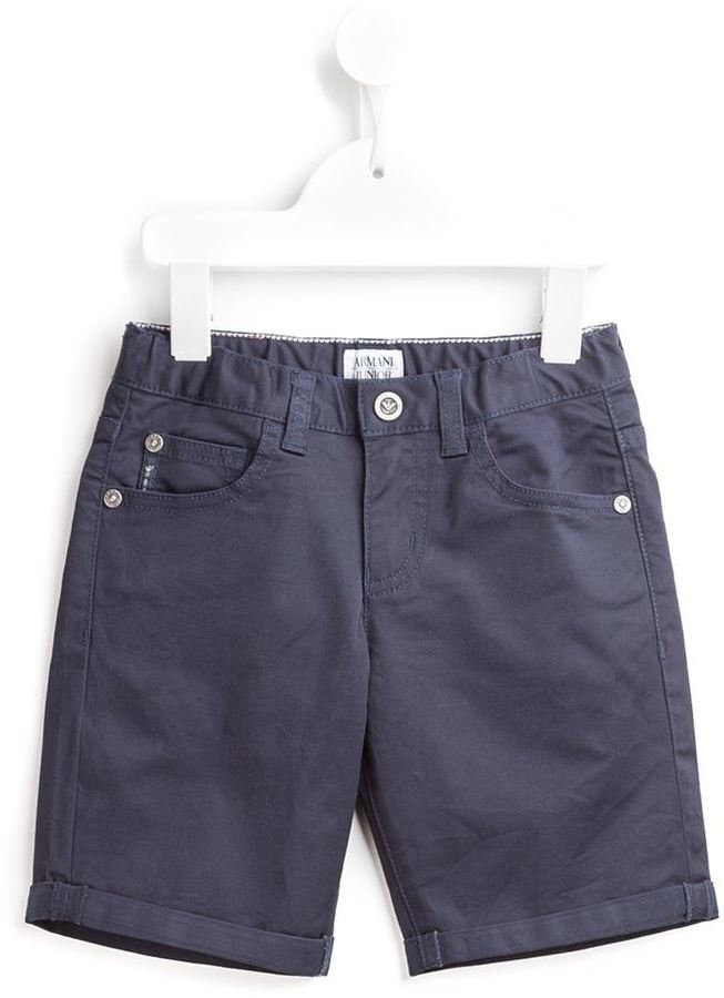 Pantaloncini di jeans blu scuro di Armani Junior