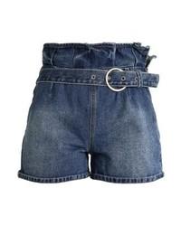 Pantaloncini di jeans blu scuro di LOST INK