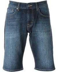 Pantaloncini di jeans blu di 7 For All Mankind