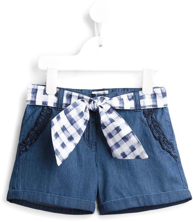 Pantaloncini di jeans blu di Armani Junior