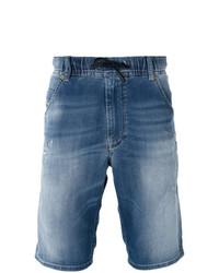 Pantaloncini di jeans blu di Diesel