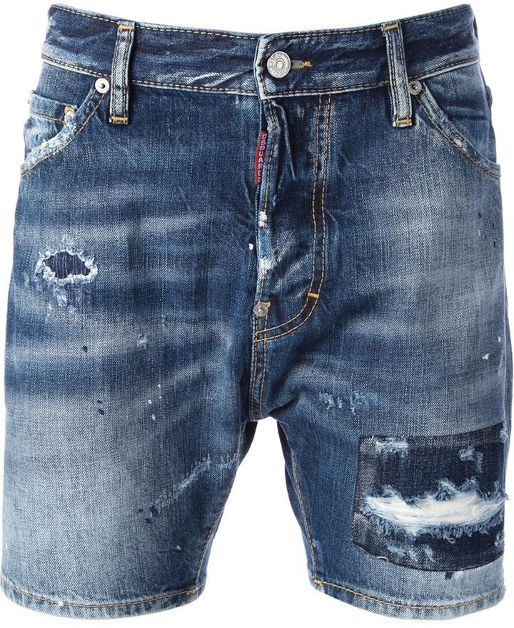 Pantaloncini di jeans blu di DSquared