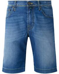 Pantaloncini di jeans blu di Jacob Cohen