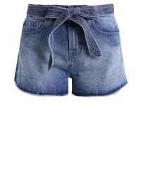 Pantaloncini di jeans blu di LOST INK