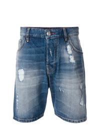 Pantaloncini di jeans blu di Philipp Plein