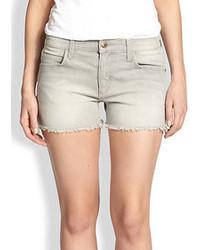 Pantaloncini di jeans grigi
