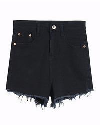 Pantaloncini di jeans neri