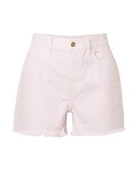Pantaloncini di jeans rosa di Current/Elliott
