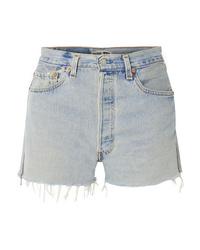 Pantaloncini di jeans strappati azzurri di RE/DONE