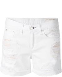 Pantaloncini di jeans strappati bianchi di Rag and Bone