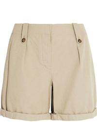Pantaloncini di lino beige