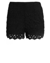 Pantaloncini di pizzo neri di Anna Field