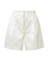 Pantaloncini di seta bianchi di Gabriela Hearst