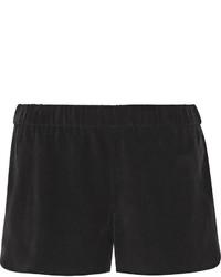 Pantaloncini di seta neri