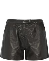 Pantaloncini in pelle neri