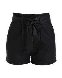 Pantaloncini in pelle neri di LOST INK