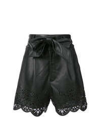 Pantaloncini in pelle neri di Marissa Webb