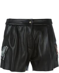 Pantaloncini in pelle neri di Philipp Plein