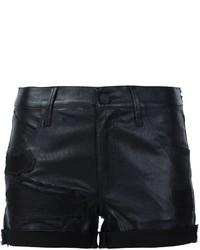 Pantaloncini in pelle neri di RtA