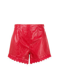 Pantaloncini in pelle rossi