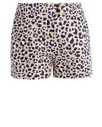 Pantaloncini leopardati marrone chiaro di Michael Kors